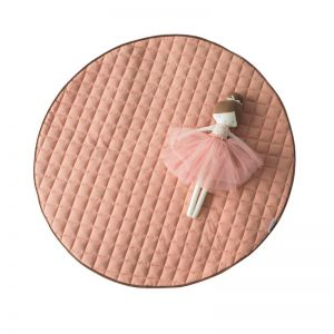 Quilted Cotton Play Mat   Dusty Pink