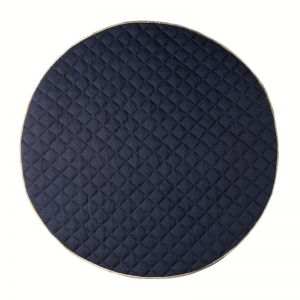 Quilted Cotton Play Mat | Royal Blue