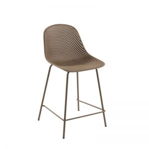 Quinby Outdoor Stool Beige | 65cm seat