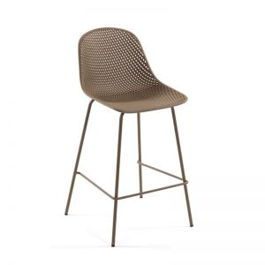 Quinby Outdoor Stool Beige | 75cm Seat