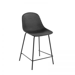 Quinby Outdoor Stool Grey   65cm Seat