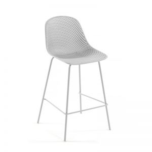 Quinby Outdoor Stool White | 75cm Seat