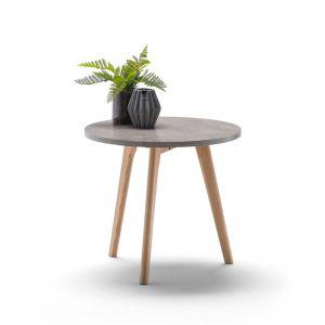 Raakel Side Table | Concrete Look & Oak