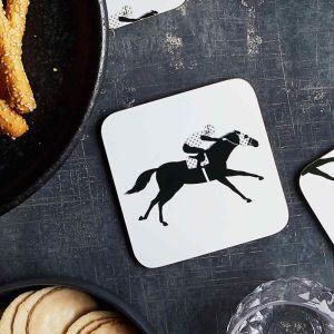 Racehorse Cork Backed Coasters