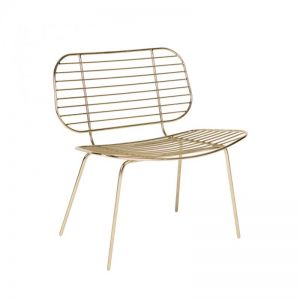 Racquet Easy Chair | Gold