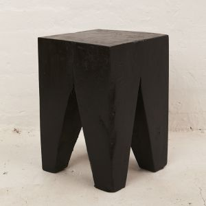 Rafi Peg Stool | Side Table in Black l Pre Order