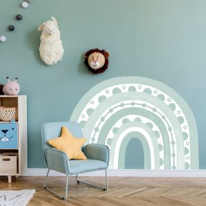 Rainbow Arch in Haze by Pick a Pear | Wall Decals