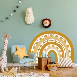 Rainbow Arch in Mustard by Pick a Pear | Wall Decals