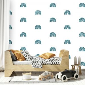Rainbow Arch Mini in Dark Teal by Pick a Pear   Wall Decals