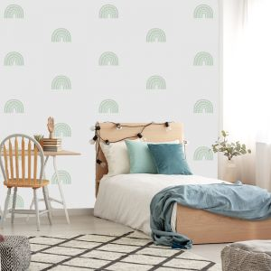 Rainbow Arch Mini in Mint by Pick a Pear   Wall Decals