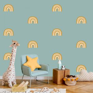 Rainbow Arch Mini in Mustard by Pick a Pear | Wall Decals