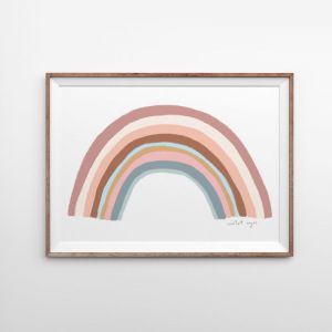 Rainbow Blessings | Blush | Art Print | by Violet Eyes