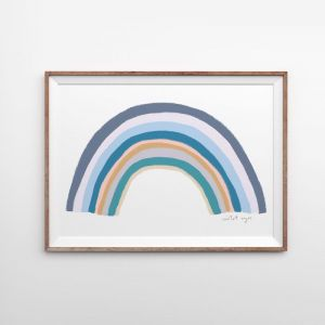 Rainbow Blessings | Marine | Art Print | by Violet Eyes