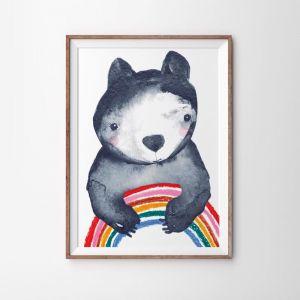 Rainbow Hugs Art Print | 49 x 70cm