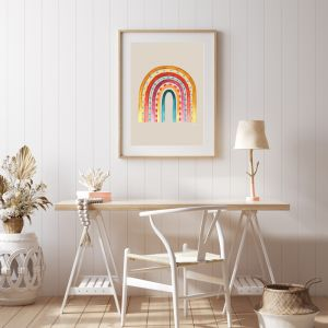 Rainbow Warrior in Sunset Ivory | Framed Fine Art | by Pick a Pear