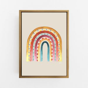 Rainbow Warrior in Sunset Ivory Print by Pick a Pear | Canvas Wall Art