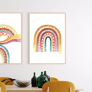 Rainbow Warrior In Sunset White | Framed Fine Art | by Pick a Pear