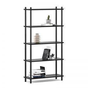 Rakk Tall Bookshelf | Black Oak
