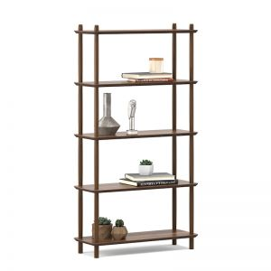 Rakk Tall Bookshelf | Light Walnut