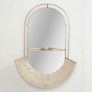 Ramla Woven Brass Mirror l Pre Order