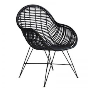 Rattan Arm Chair | by Raw Decor | Black