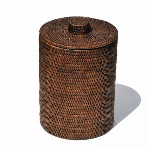 Rattan Bathroom Bin Liner in Brown