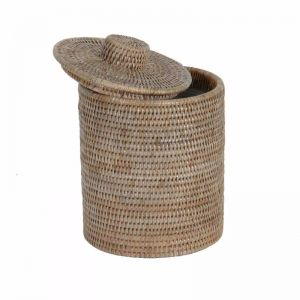 Rattan Bathroom Bin Liner in Grey wash
