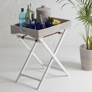 Rattan Butler Tray Table