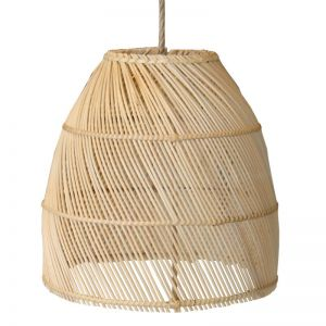 Rattan Dome Pendant II  by Raw Decor