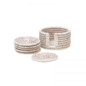 Rattan Drink Coaster S/6 in various colours