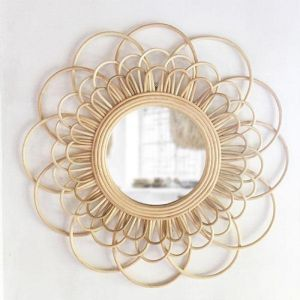 Rattan Flower Mirror | By Sun Republic