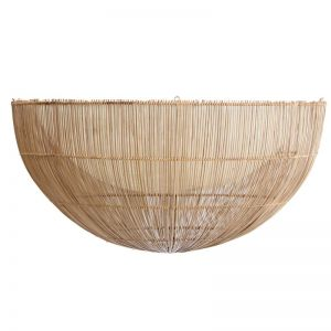 Rattan Flush Mount Light Shade | by Raw Decor