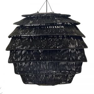 Rattan Hive Pendant | Black | by Raw Decor