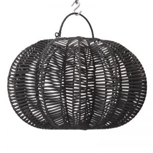 Rattan Lotus Pendant | Black | by Raw Decor