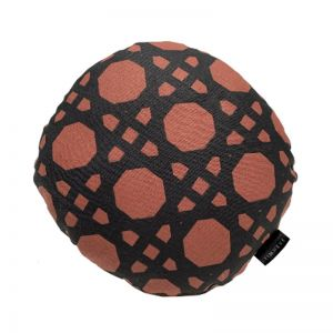 Rattan Round Cushion | Rust