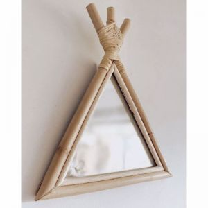 Rattan Teepee Mirror | By Sun Republic