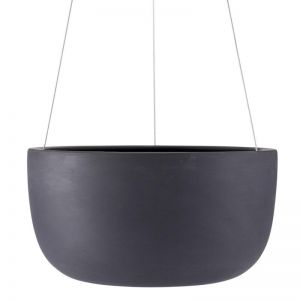 Raw Earth Hanging Planter by Angus & Celeste | Charcoal | Large
