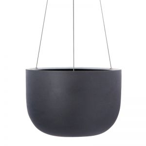 Raw Earth Hanging Planter by Angus & Celeste | Charcoal | Regular