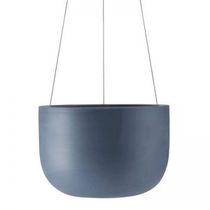 Raw Earth Hanging Planter by Angus & Celeste | Slate Blue | Regular