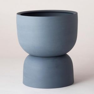 Raw Earth Plant Stand Pot | Slate Blue by Angus & Celeste