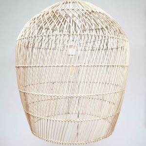 Raw Woven Rattan Pendant Lamp Shade (52cm)