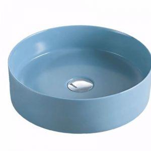 Reba Art Ceramic Basins | Matte Blue