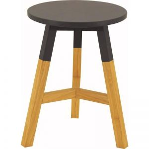 Reba Stool | Oak + Graphite Grey | Modern Furniture