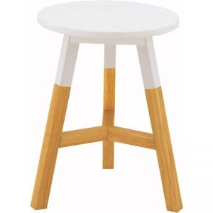 Reba Stool | Oak + White Top | Modern Furniture