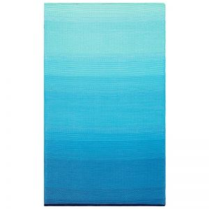 Recycled Plastic Outdoor Rug & Mat   Reversible Blue Big Sur