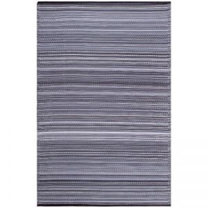 Recycled Plastic Reversible Outdoor Rug & Mat | Cancun Midnight
