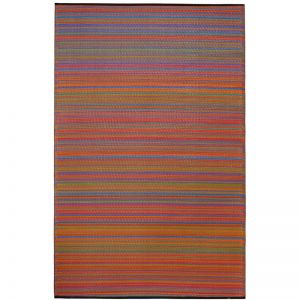 Recycled Plastic Reversible Outdoor Rug & Mat | Cancun Multicolour