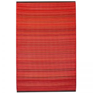 Recycled Plastic Reversible Outdoor Rug & Mat   Cancun Sunset