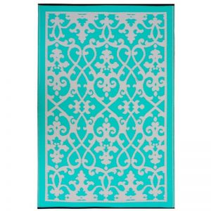 Recycled Plastic Reversible Outdoor Rug | Venice Turquoise | 180 x 270cm