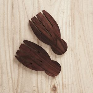 Recycled Sono Wood Hand Salad Servers l Pre Order